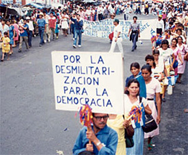 Demo in El Salvador